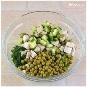 Легкий салат на ужин ингредиенты