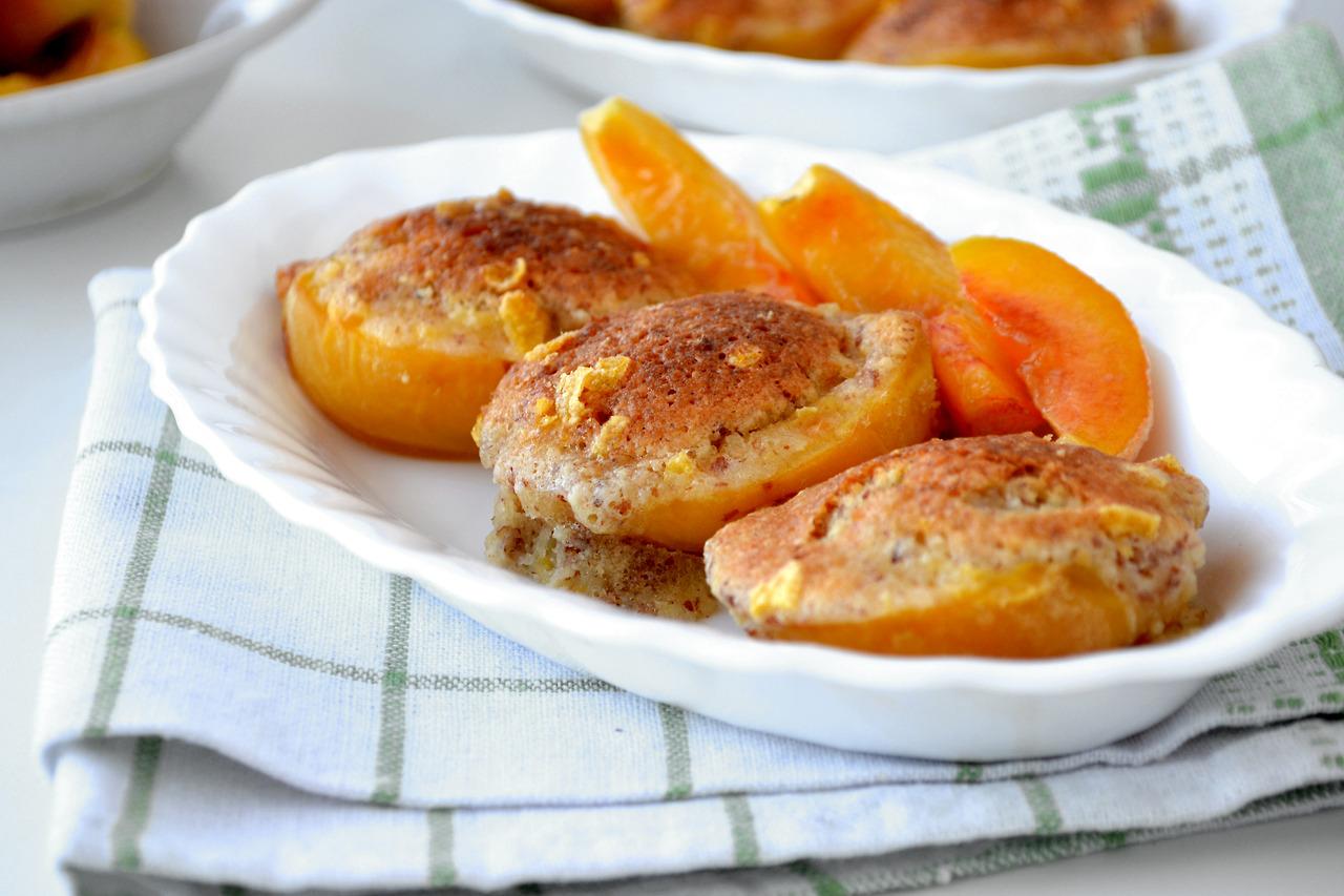 Запеченные персики