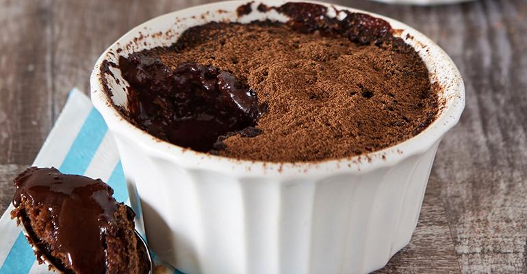 Пудинг с шоколадом