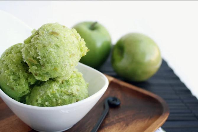 Яблочное мороженое летный десерт из яблок