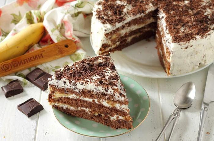 Диетический бананово-шоколадный торт