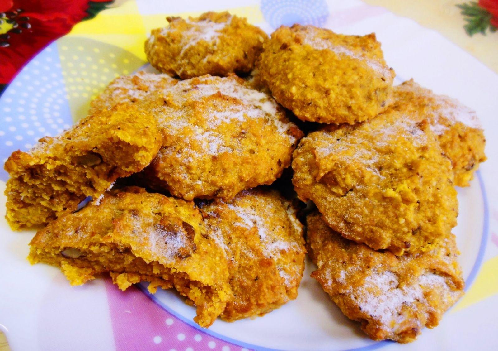 Овсяно-тыквенное печенье любительский диетический десерт