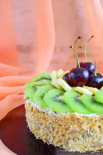 Кокосовый торт для мамы (без муки)