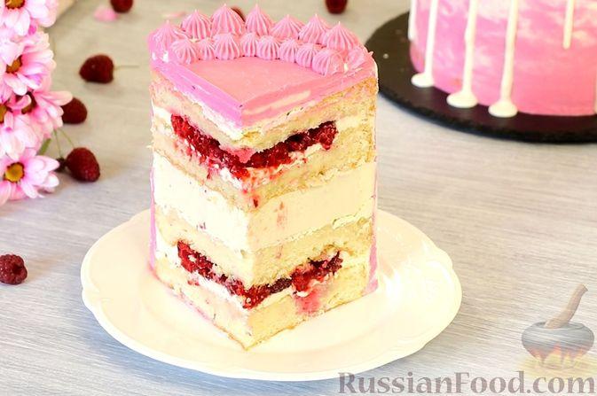 Медовый торт-мусс с малиной