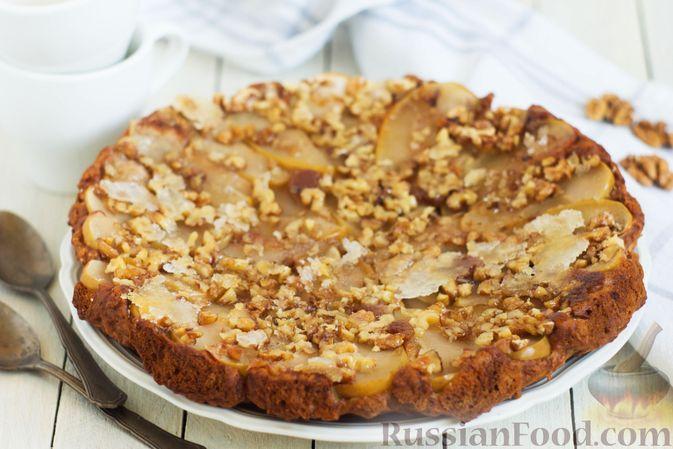 Постный яблочный пирог-перевёртыш