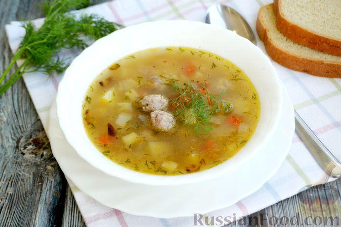 Суп с овсяными хлопьями и фрикадельками