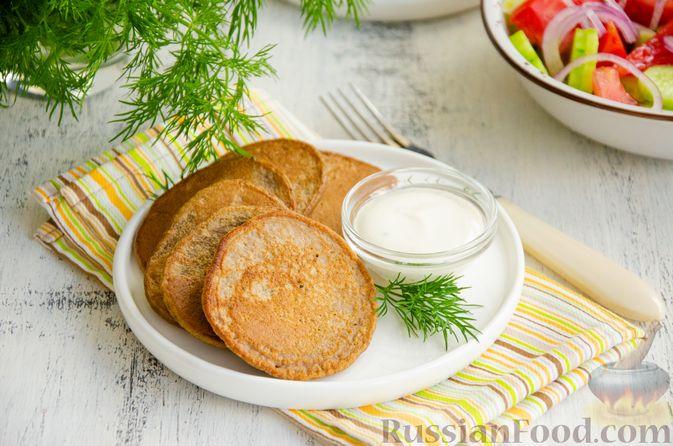 Картофельные драники с куриной печенью