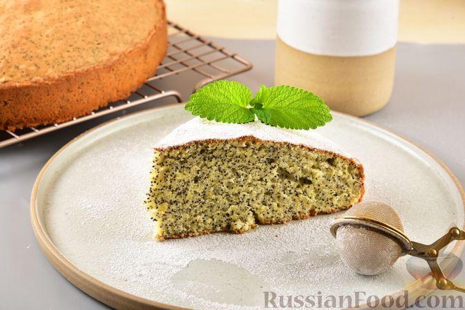 Сдобный бездрожжевой пирог с маком