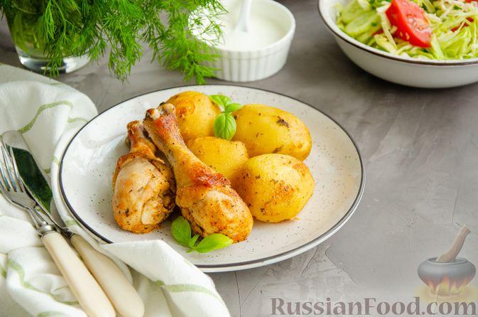 Куриные голени, запечённые с молодой картошкой (в рукаве)