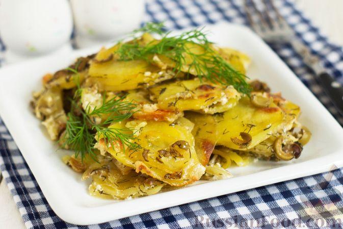 Картофельная запеканка с оливками, розмарином и чесноком