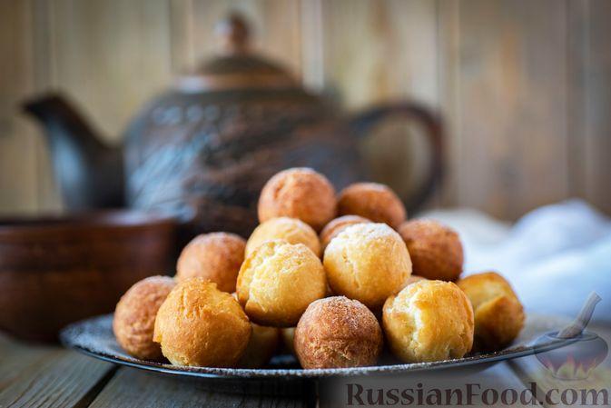 Пончики со сгущёнкой и кокосовой стружкой
