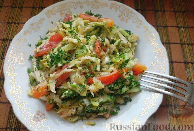 Овощной салат с икрой минтая