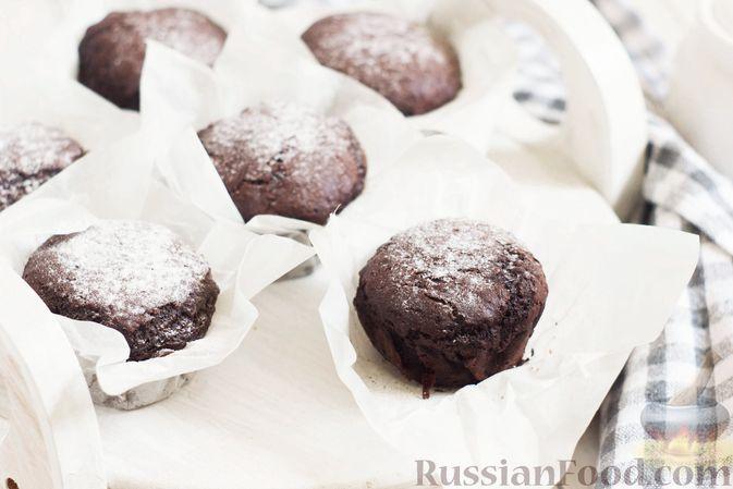 Шоколадные кексы на растительном масле, без яиц
