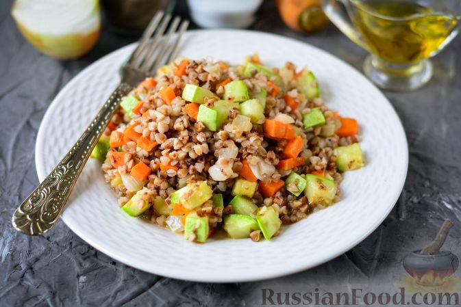 Гречка с кабачком и морковью