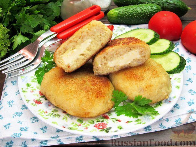 Рыбные зразы с плавленым сыром