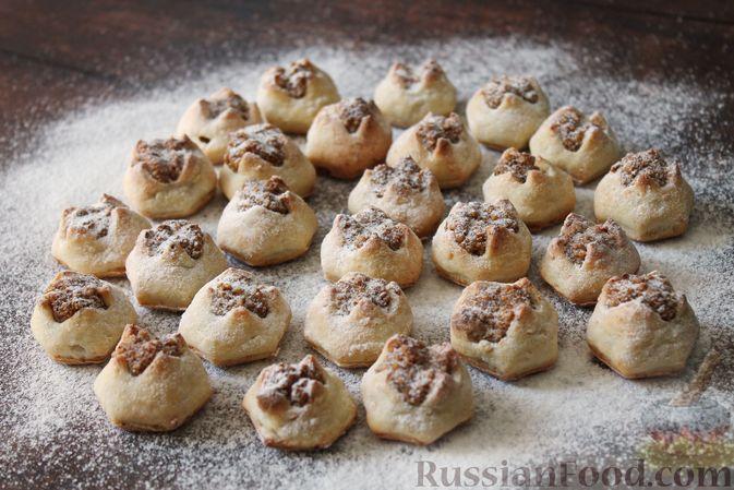 """Творожное печенье """"Пельмешки"""" с орехами и джемом"""