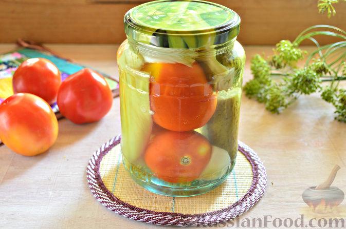 "Заготовка на зиму с помидорами ""Овощной квартет"""