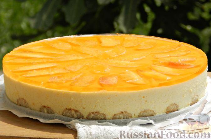 Торт-суфле с персиками