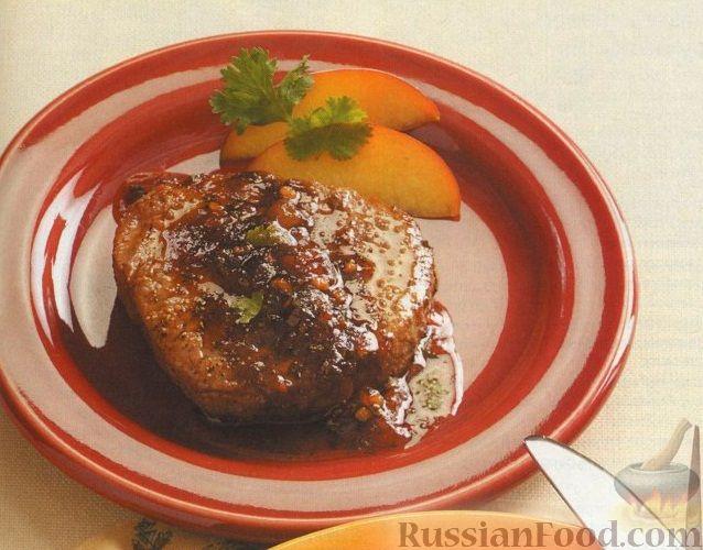 Говяжьи стейки с персиковой глазурью