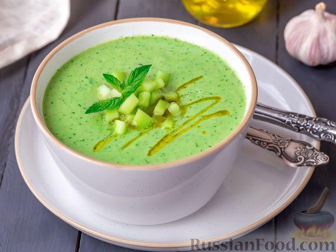 Холодный огуречный суп с йогуртом и кефиром