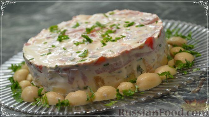 Салат «Пестрый» с необычным соусом