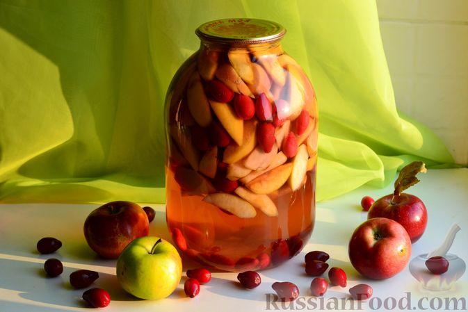 Компот из яблок и кизила (на зиму)