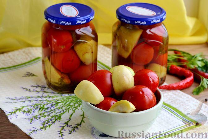 Маринованные помидоры с яблоками и корицей (на зиму)