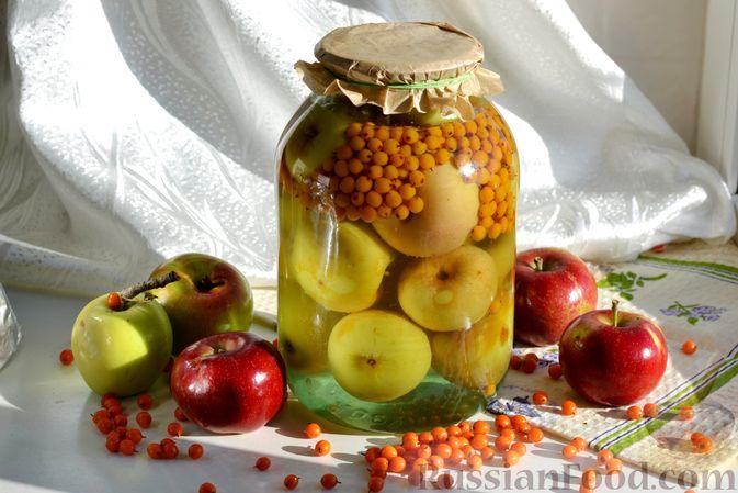Компот из яблок и облепихи