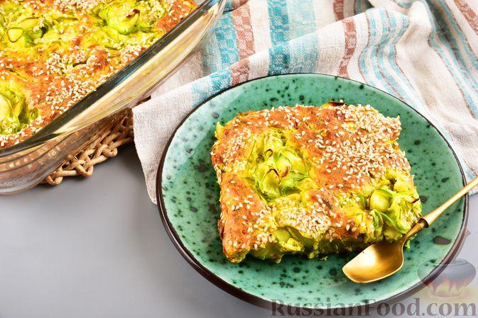 Пирог-запеканка с кабачками и творогом