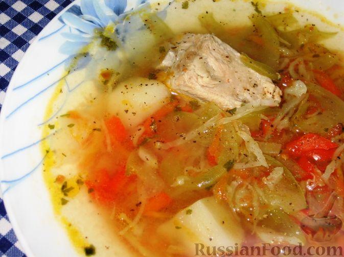 Суп с зелеными помидорами
