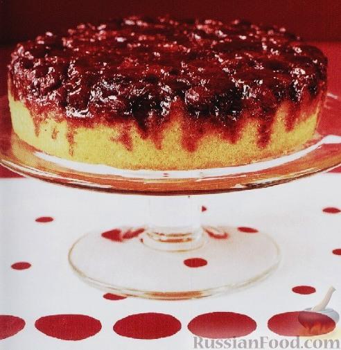 «Перевернутый» пирог с клюквой
