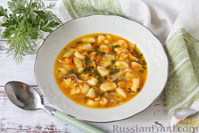 Куриный суп с творожными клёцками