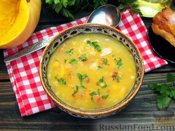 Тыквенный суп-пюре с копчёной курицей