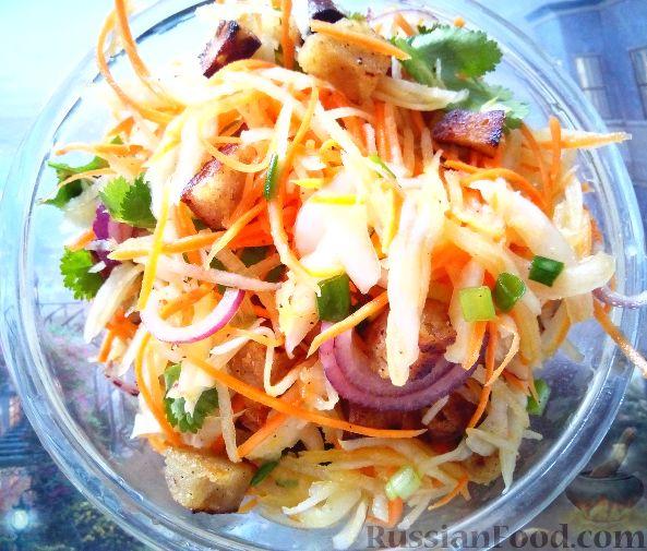 Салат из редьки с сухариками