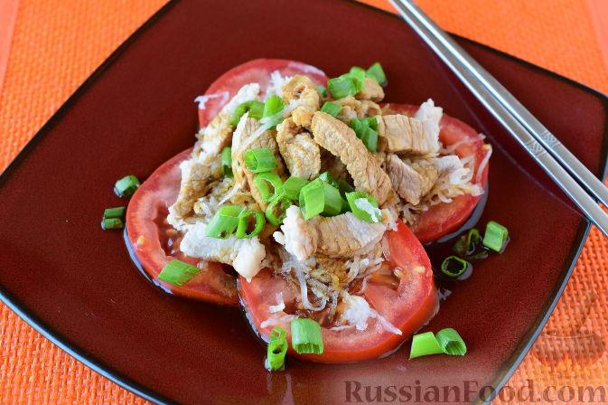 """Японский салат """"Сябу-сябу"""" со свининой"""