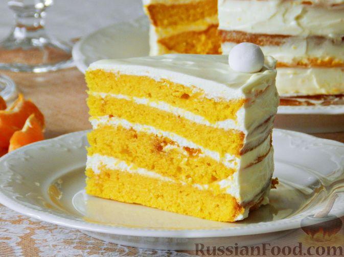 Тыквенный торт со взбитыми сливками