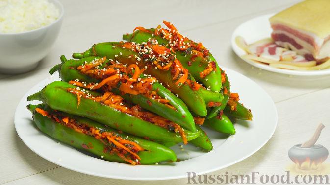 Кимчи из зелёного острого перца
