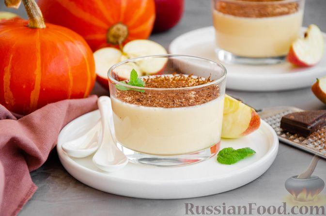 Йогуртовое желе с тыквой и яблоками