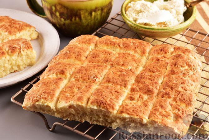 Творожный бездрожжевой хлеб