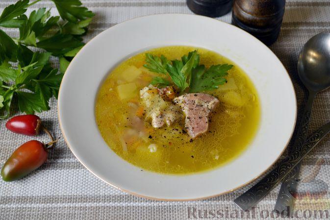 Куриный суп с тыквой и булгуром