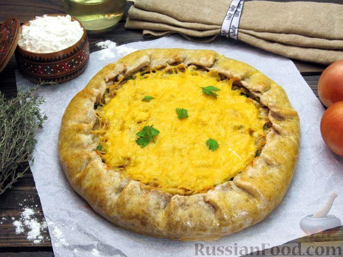 Открытый пирог с капустой и яйцами, на пиве