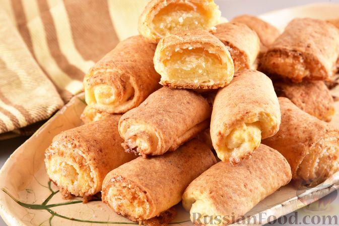 Творожное печенье с кокосовой начинкой
