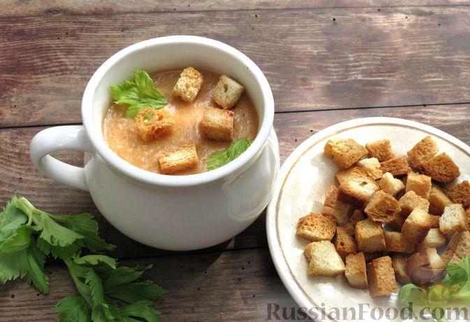 Суп-пюре из сельдерея, яблок и индейки