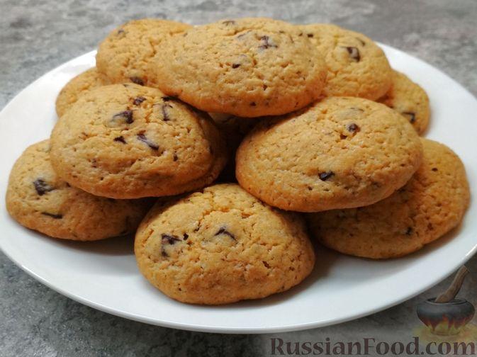 Песочное печенье с шоколадом