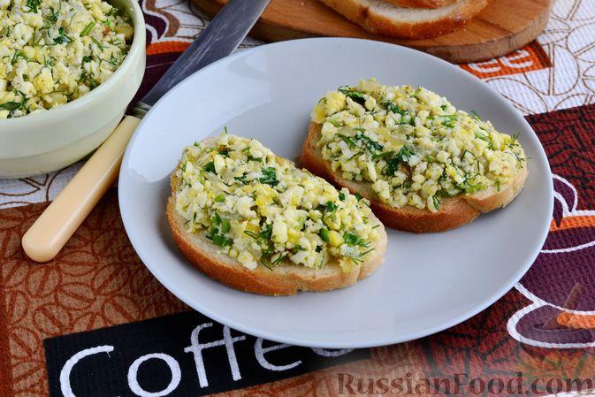 Бутерброды с яично-луковой намазкой