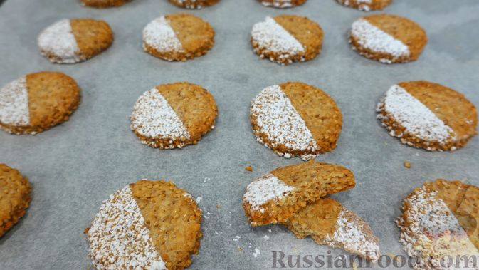 Кунжутное печенье на скорую руку (постная выпечка)