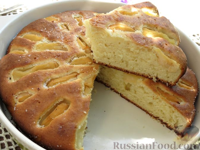 Творожный пирог с айвой и цедрой лимона
