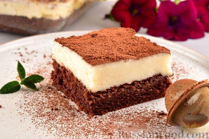 Шоколадный бисквит с заварным кремом