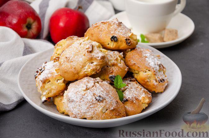 Яблочное печенье с мёдом, сухофруктами и орехами