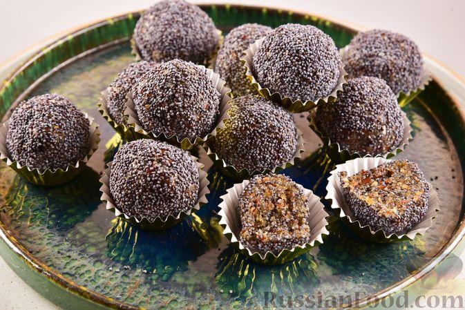 Конфеты из сухофруктов с орехами и маком